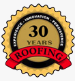 30 Years Roofing Logo